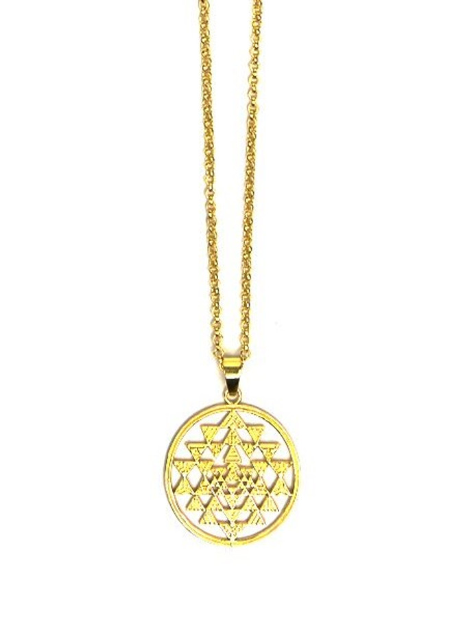 Recycled brass pendant necklace | Fair Anita