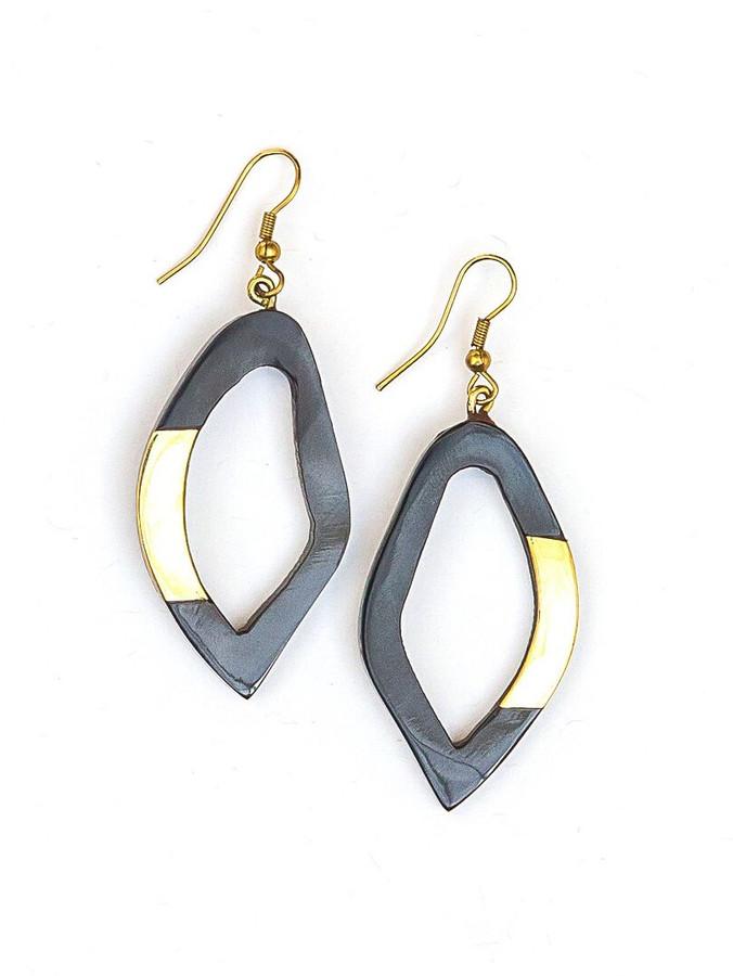 Funky upcycled horn earrings | Fair Anita