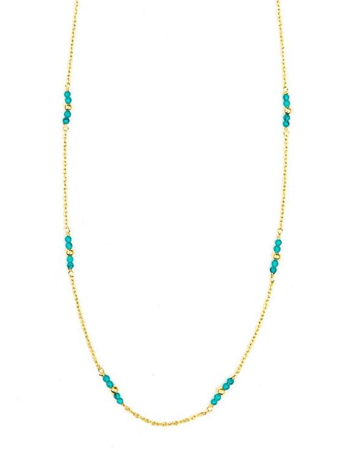 Dainty gold choker necklace