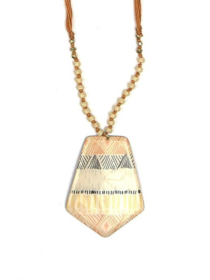 screenprint pattern necklace | Fair Anita