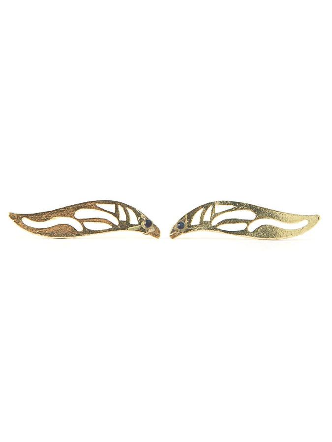 Fairy Wing Earrings - Brass