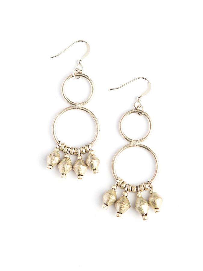 Artillery recycled bullet casing chandelier earrings | Fair Anita