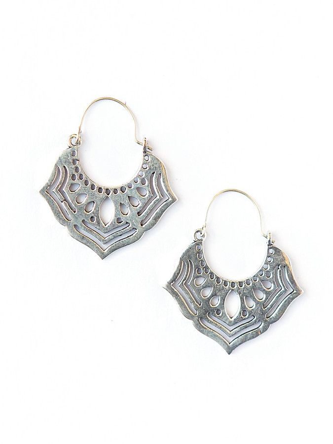 Ornate Orchid Earrings - Silver