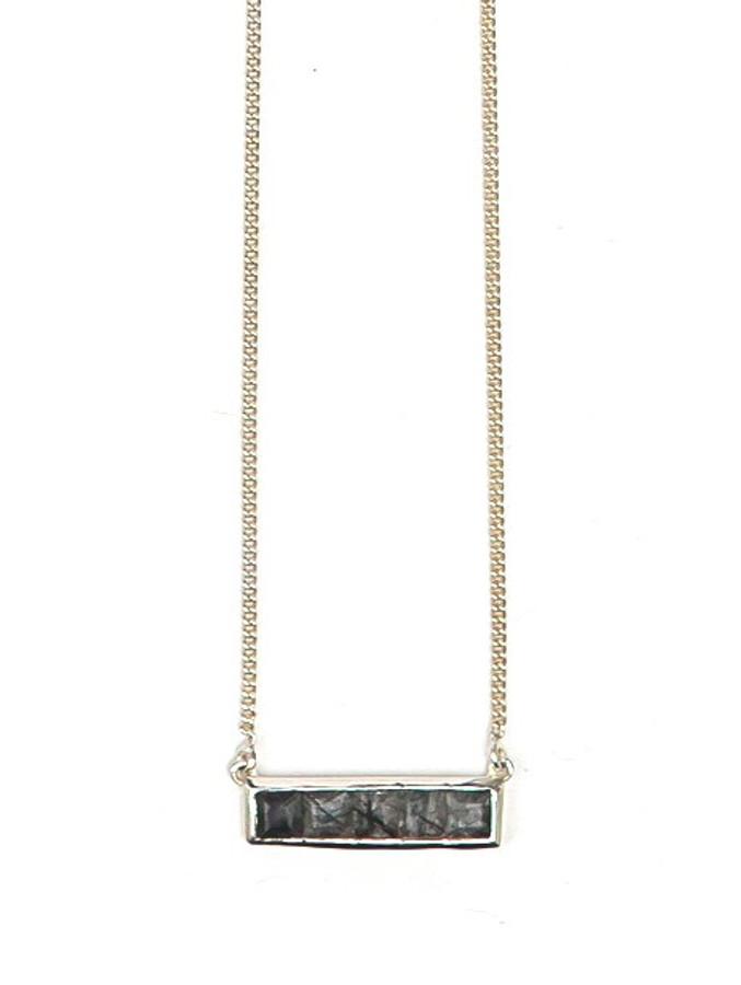 Multistone Bar Necklace - Rutile