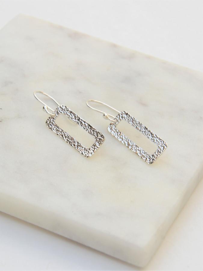 Rectangle sterling silver earrings   Fair Anita