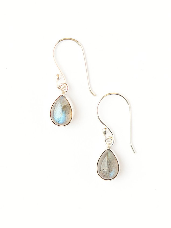 Dewdrop Dangle Earrings - Labradorite
