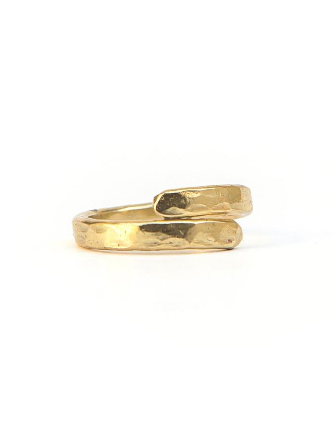 Twisted Vine Ring - Brass