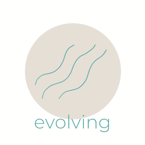 three wavy lines, with the word 'evolving' underneath