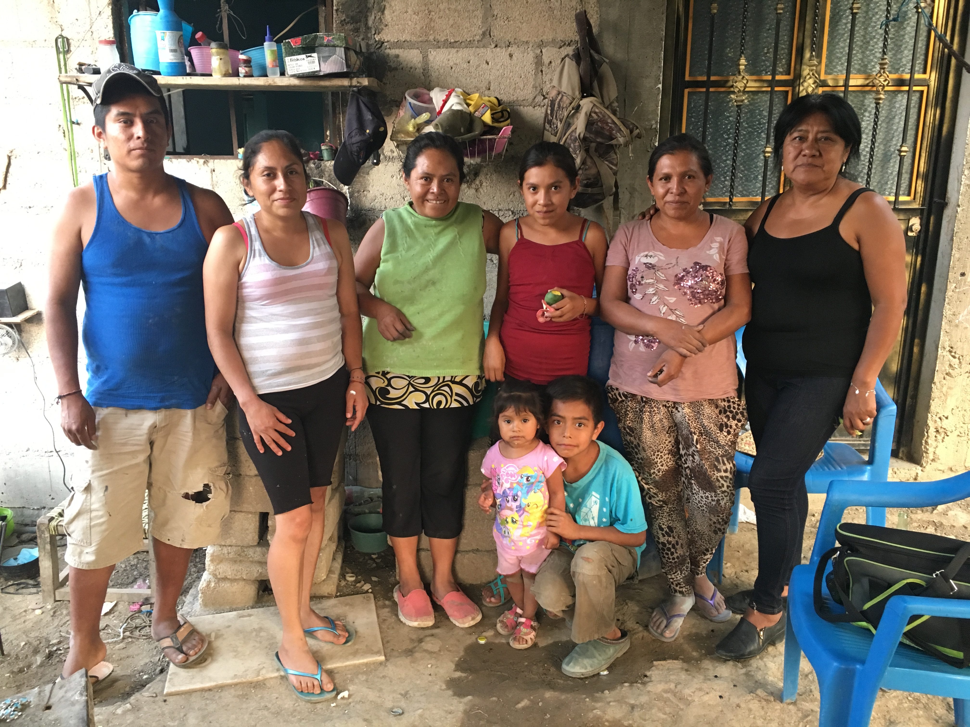 Berta, a silversmith, pictured with Family in Mexico | Fair Anita