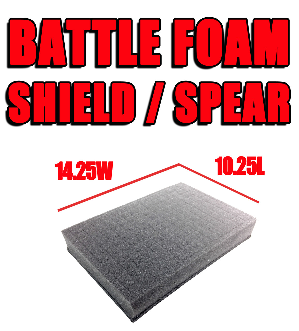 Shield/Spear Foam Trays (14.25W x 10.25L)