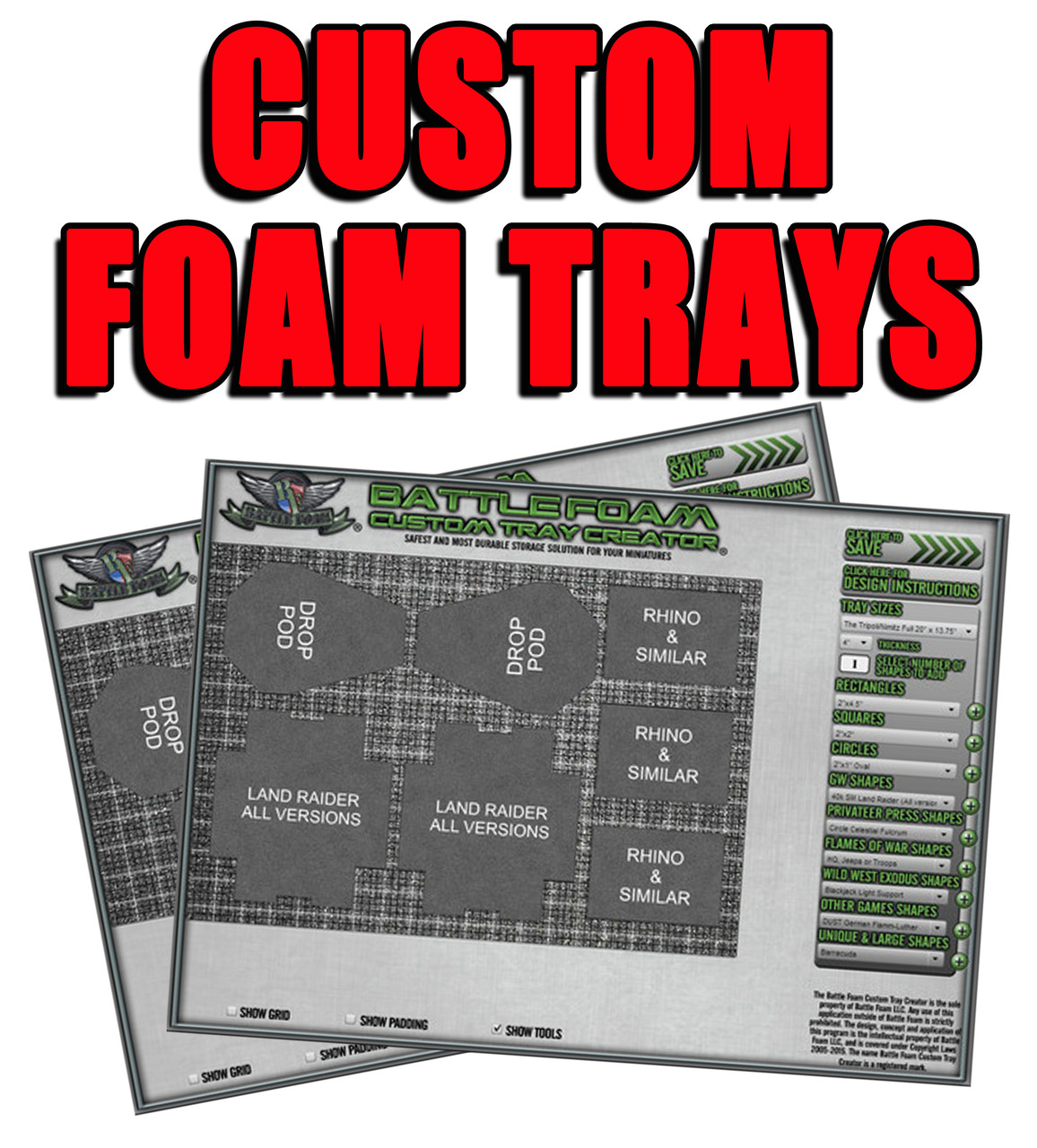Custom Foam Trays
