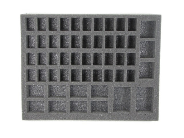 This kit comes with two Space Marine Troop Trays in 1 inch thick.