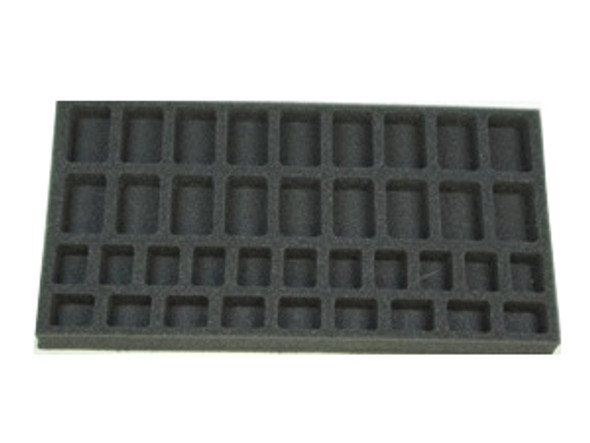 (Gen) Flames of War 18 Troop 20 HQ Foam Tray (BFM-1)