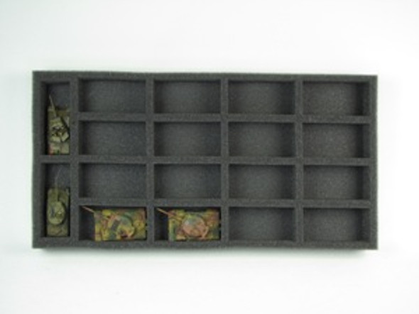 (Gen) Flames of War Medium and Large Tank Foam Tray (BFM-1.5)