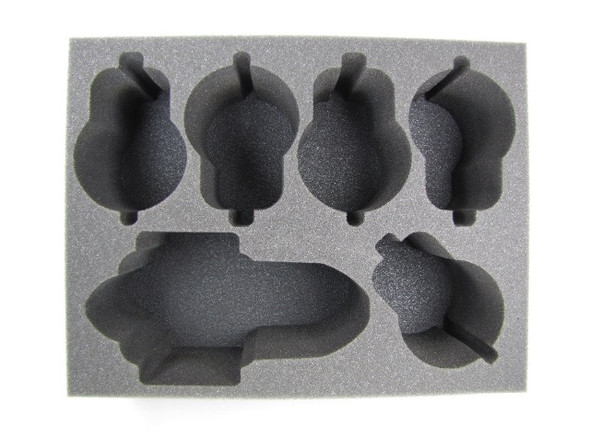 (Necron) 1 Doomsday/Ghost Ark 5 Catacomb/Annihilation Barges Foam Tray (BFL-5)