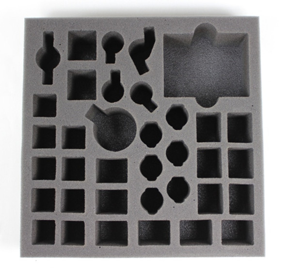 Models pictured are for size comparison only. They are the personal property of Battle Foam employees and are not included with the purchase of this tray.  The fit of the models are not endorsed or affiliated with Fantasy Flight Games in any way.