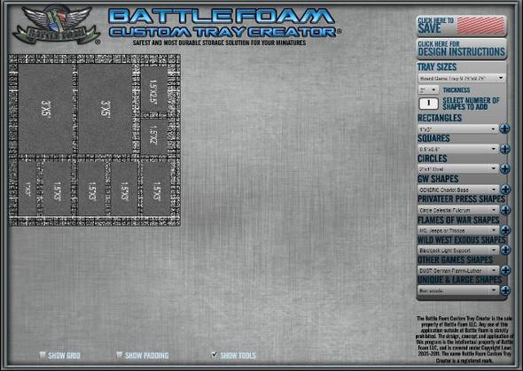 (Custom) Custom Small Board Game Foam Tray