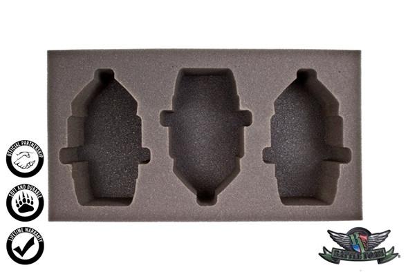 (Union) 3 Rolling Thunder Foam Tray (WWX-3)