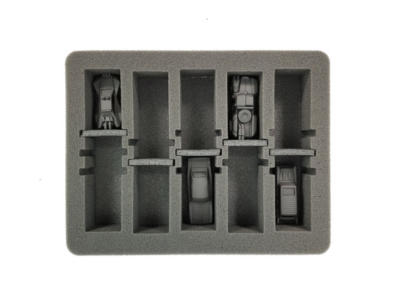 Gaslands 5 Medium Vehicle Modular Slots Foam Tray (SR-2)