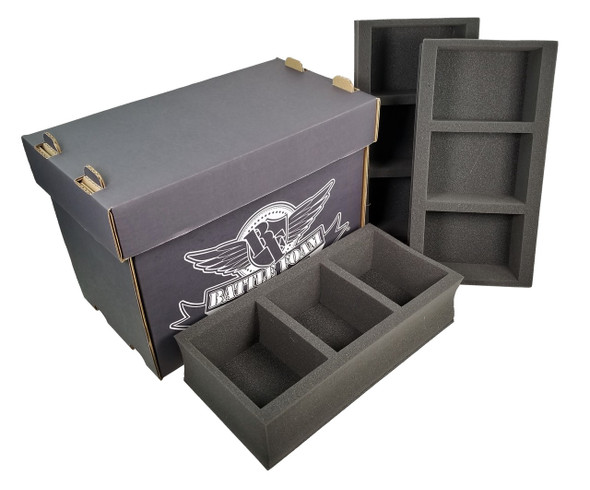 Battle Foam Medium Stacker Box with 9 POP Load Out (Black)