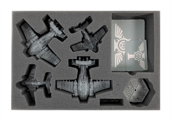 (Aeronautica Imperialis) Eavy Bommers Foam Tray with Unassembled Flight Stands Foam Tray (BFS-1.5)