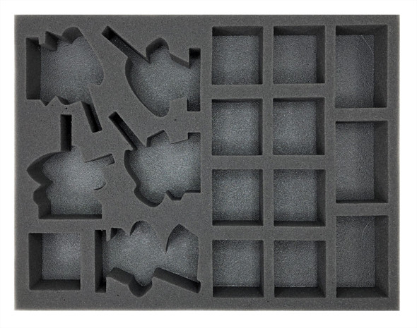 Age of Sigmar Lumineth Realm-Lords 10 Alarith Stoneguard and 5 Vanari Dawnriders Foam Tray (BFL-1.5)