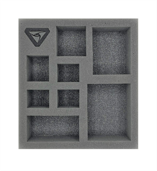 (Warcaster) Aeternus Continuum Command Group Half Foam Tray (PP.5-2.5)