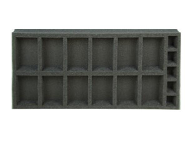 (Gen) Flames of War 12 Artillery Foam Tray (BFM-1.5)