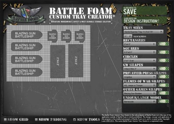 (Custom) Custom Battle Foam Small Foam Tray (BFS)
