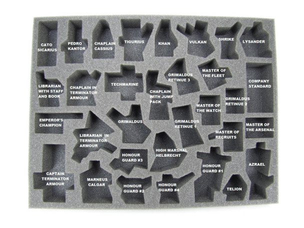 (Space Marines) Heroes of the Space Marines Troop Foam Tray (BFL-1.5)