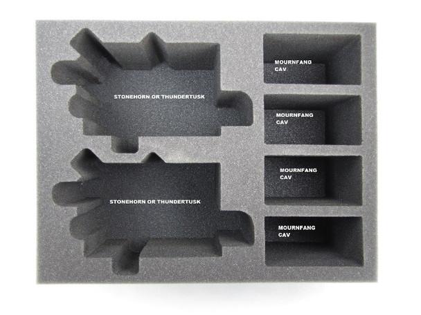 Ogre Kingdom Stonehorn & Thundertusk Foam Tray (BFL-7)