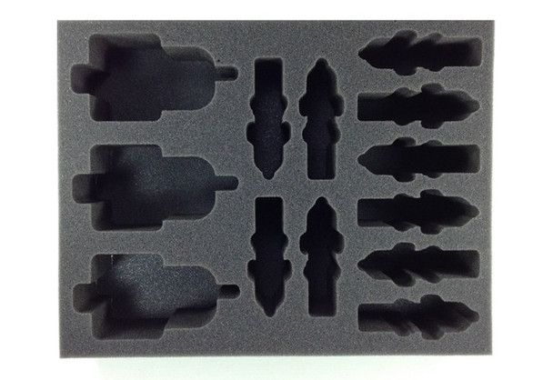 (30K) 3 Javelin Attack Speeder 10 Scimitar Jetbike Foam Tray (BFL-3)
