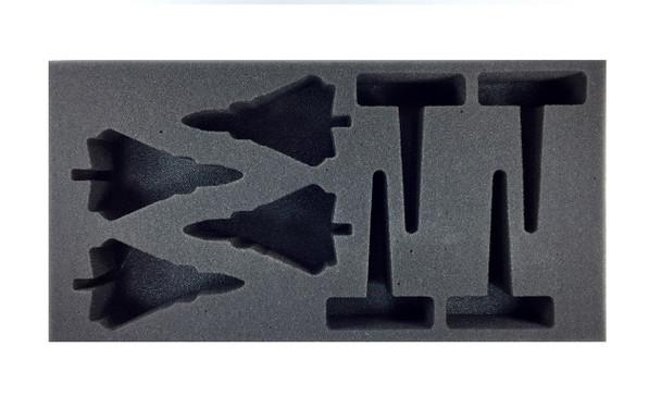 (Team Yankee) Flames of War German Tornados Foam Tray (BFM-2)