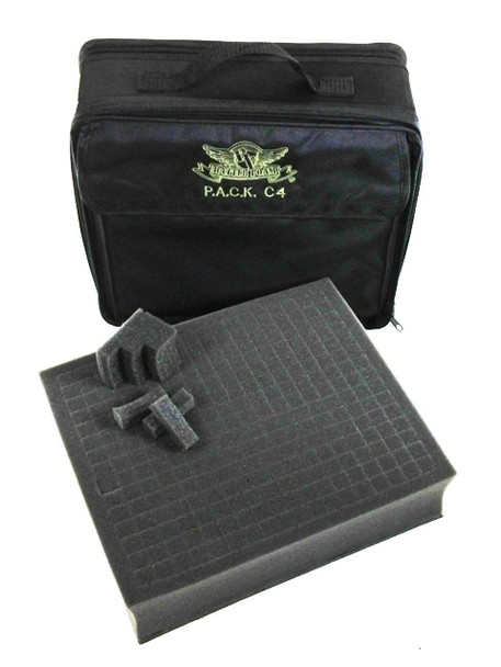 (C4) P.A.C.K. C4 Bag 2.0 with 3 Inch Pluck Foam Tray