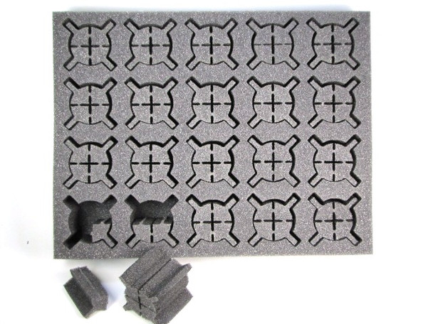 (Clearance) Iso Medium and Large Troop or Character Foam Tray (BFL-2)