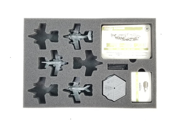 (Aeronautica Imperialis) Dakkajet Any Build Foam Tray with Unassembled Flight Stands (BFS-1)