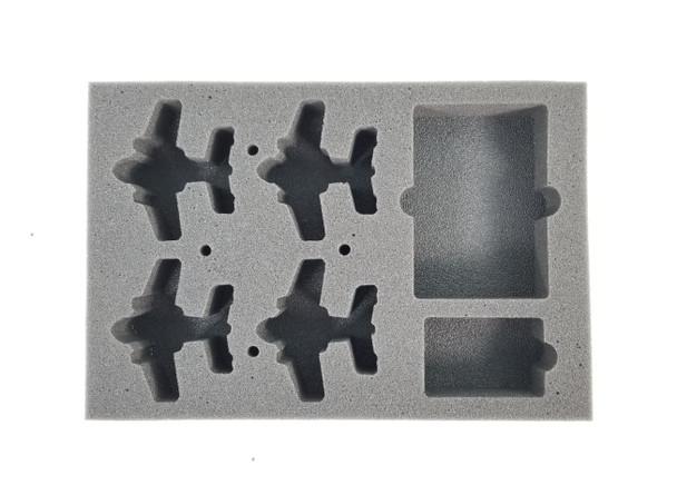 (Aeronautica Imperialis) Fighta Bommerz Foam Tray with Flight Stems Glued to Base (BFS-1.5)
