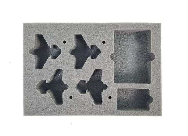 (Aeronautica Imperialis) Thunderbolt Foam Tray with Flight Stems Glued to Base (BFS-1.5)