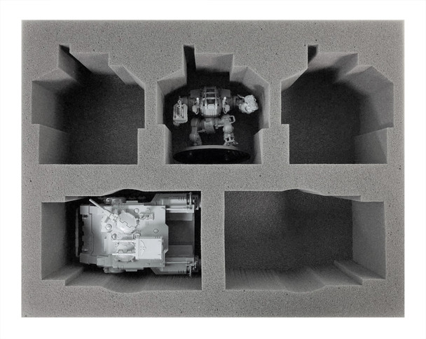 (Space Marine) 2 Primaris Impulsor/Gladiator 3 Invictor Foam Tray (BFL)