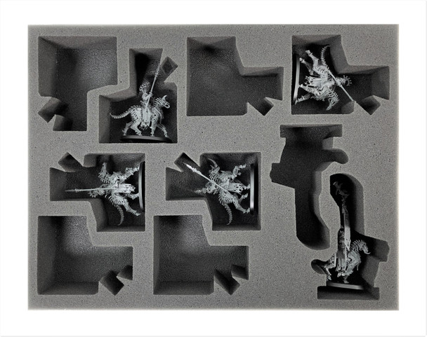 Age of Sigmar Ossiarch Bonereapers Universal Kavalos Deathriders Foam Tray (BFL-2)