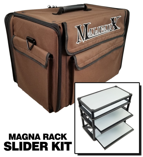 Malifaux Bag 2.0 with Magna Rack Slider Load Out (Brown)