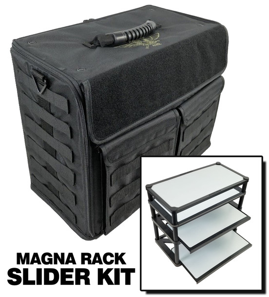 (432) P.A.C.K. 432 Molle Horizontal with Magna Rack Slider Load Out (Black)
