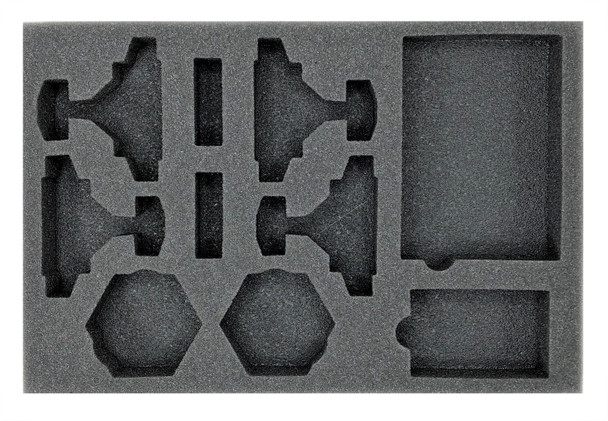 (Aeronautica Imperialis) Avenger Strike Fighters Foam Tray with Unassembled Flight Stands (BFS-1)