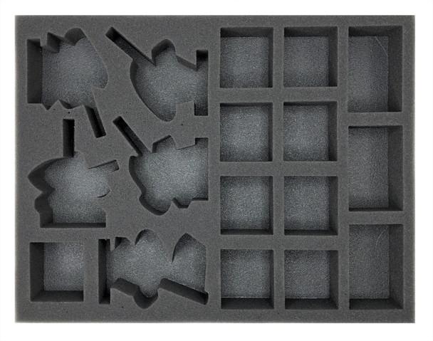 Age of Sigmar Lumineth Realm-Lords 10 Alarith Stoneguard and 5 Vanari Dawnriders Foam Tray (BFL-1.5)