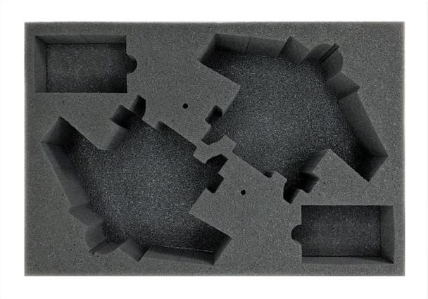 (Aeronautica Imperialis) 2 Mega Bommer Foam Tray with Flight Stems Glued to Base (BFS-3)