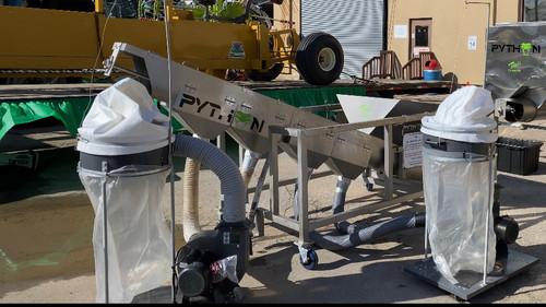 Tom's Biomass Processor unveiled at the Denver NOCO Hemp Show, March 27, 2021.