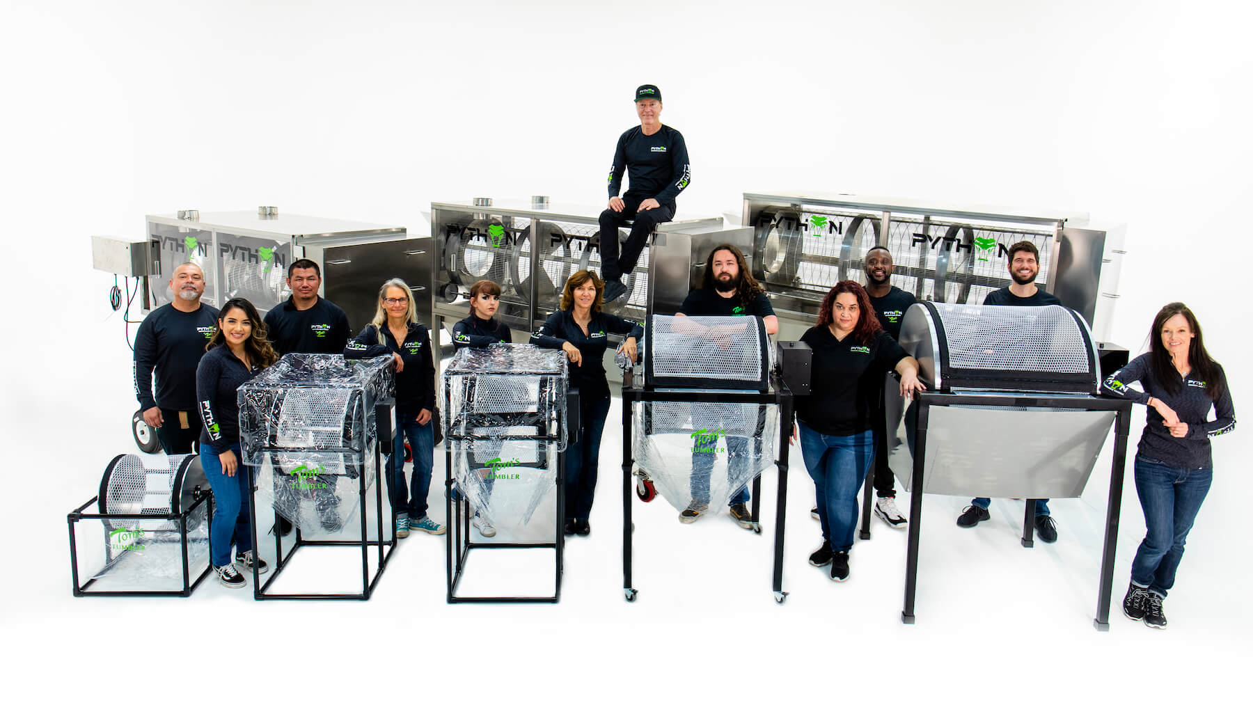 A staff photo of the Tom's Tumbler™ team.