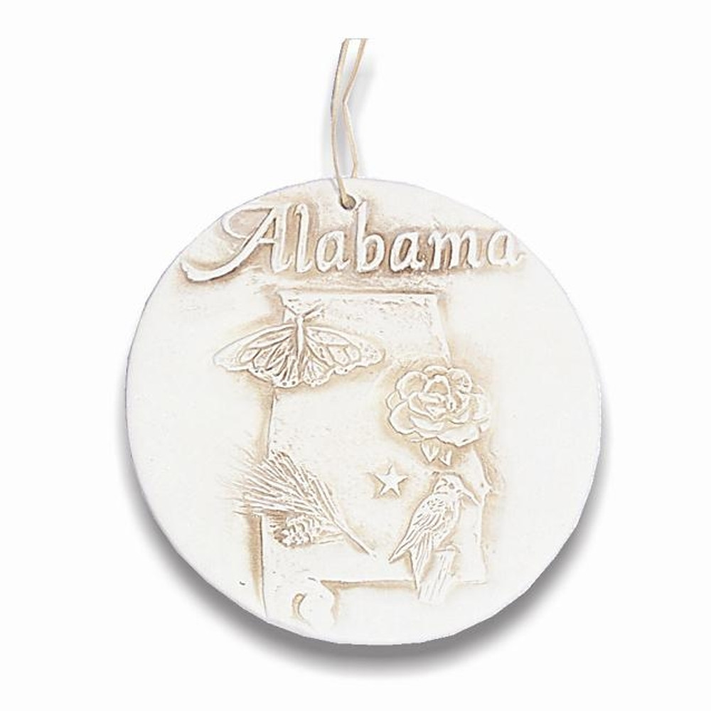 State of Alabama Clay Ornament