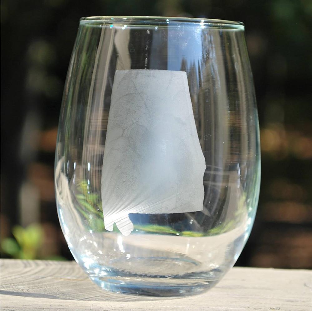 Alabama Stemless Wine Glass