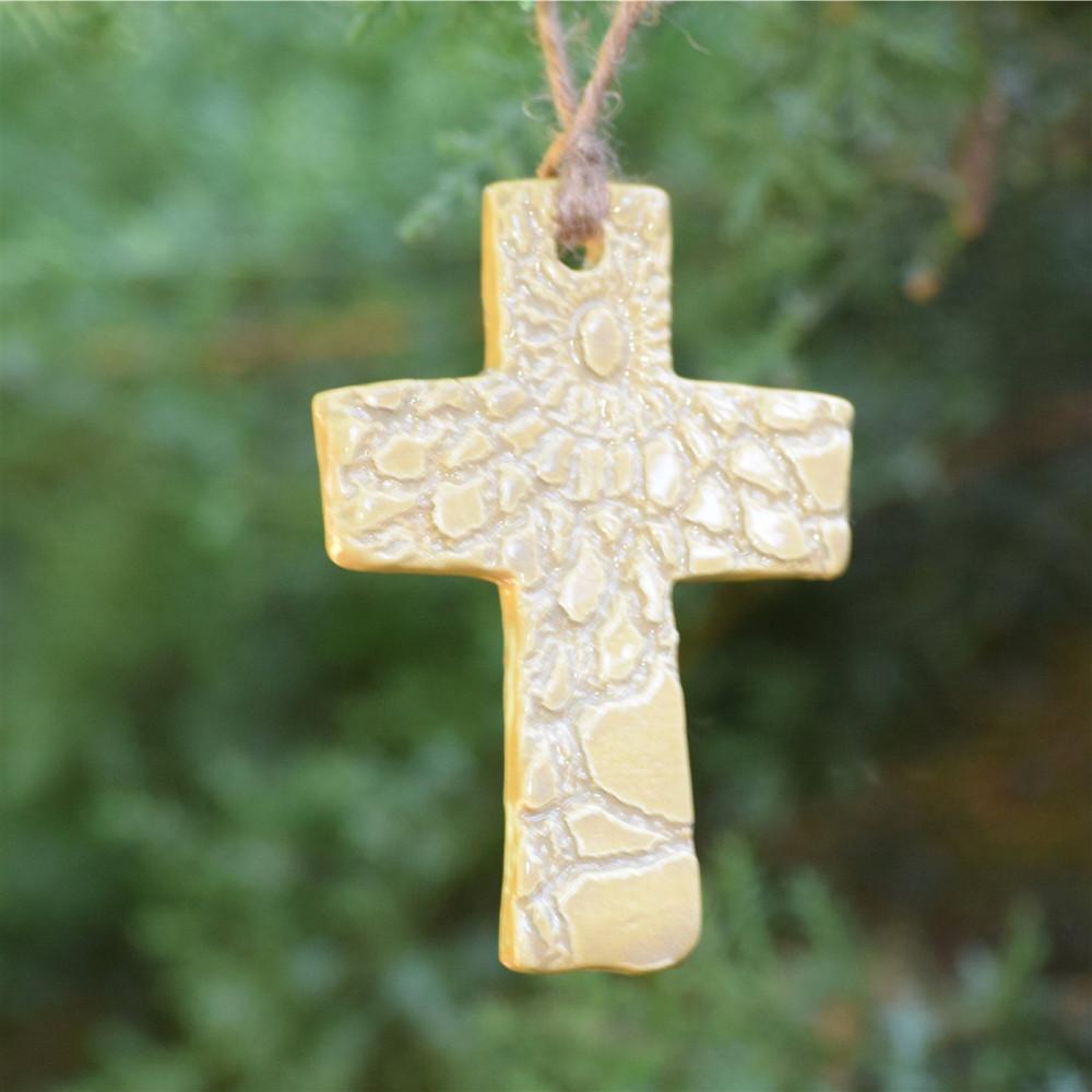 Prodigal Pottery Cross Ornament